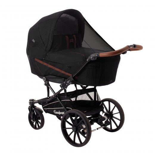 Tinklelis nuo uodų vežimėliams, universalus, juodas