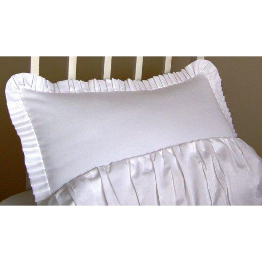 Pagalvės užvalkalas su kraštais Balta Svajonė, 40 x 50 cm.