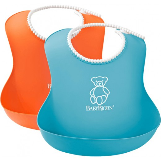 Seilinukas SOFT BIB ORANGE/TURQUOISE (2 vnt.)
