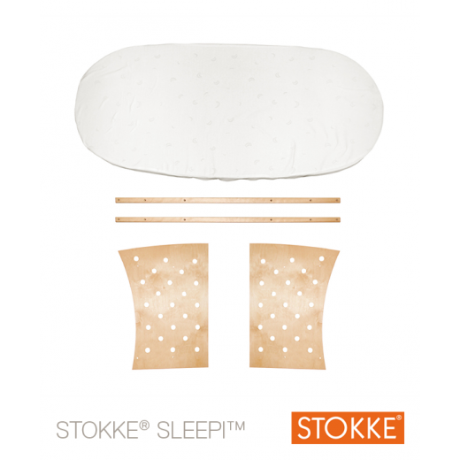Stokke® Sleepi™ JUNIOR praplėtimas iki 172 cm. (~ iki 10 m.) be čiūžinio NATURAL