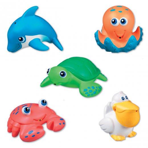 Žaislliukai voniai Sea Squirts 5 vnt.