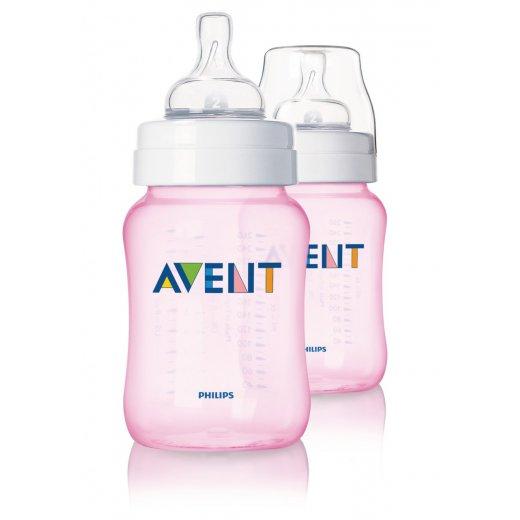 Buteliukas AVENT 260 ml. PP rožinis