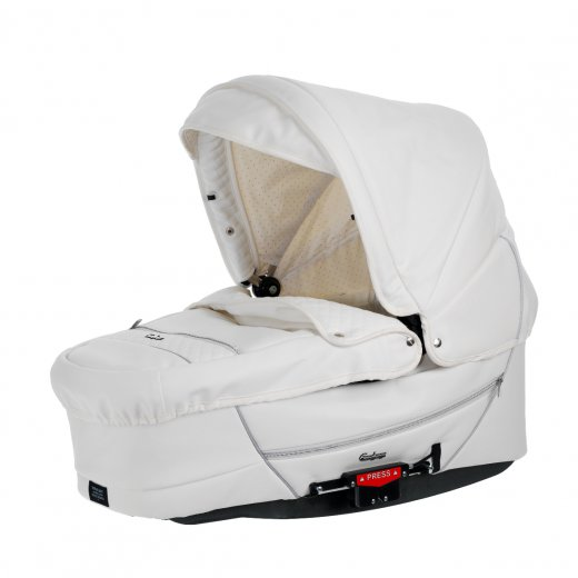 Lopšys CITY CARRYCOT SUPREME WHITE LEATHER 2013