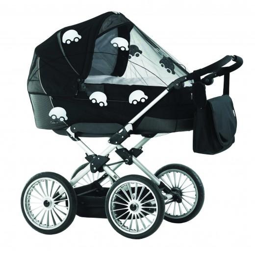 """Tinklelis nuo uodų vežimėliams """"AUTOMOBILIAI"""", universalus, su atšvaitais"""