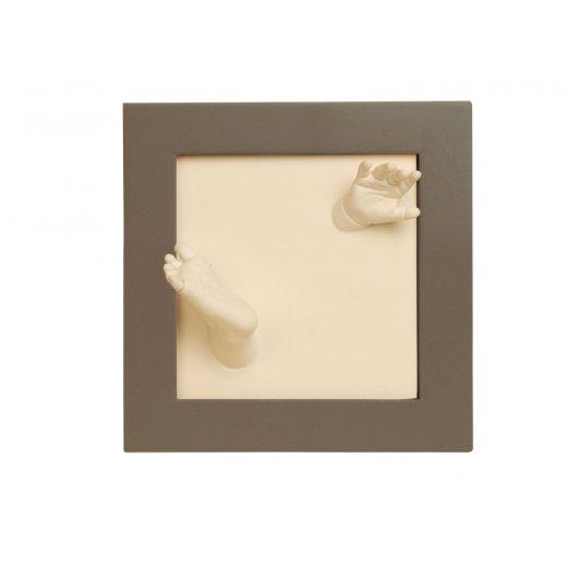 Rėmelis su 3D pėdutės ir rankytės įspadu (taupe)