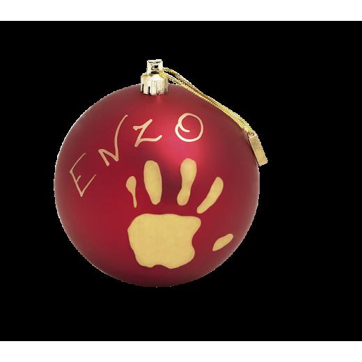 BABY ART Kalėdinis žaislas - burbulas (raudonas)