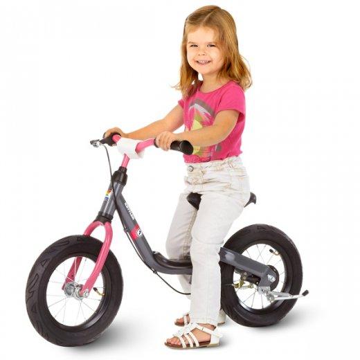 Balansinis dviratukas RUN 10 col. GIRL Grey/Pink