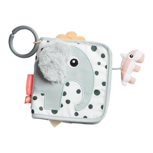 Done by Deer minkštas lavinamasis žaislas-knygutė, Elphee, Grey