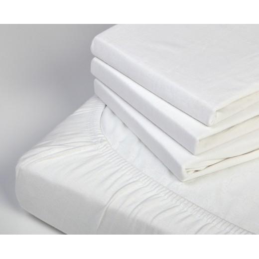 Paklodė su guma balta (120x60x8 cm)