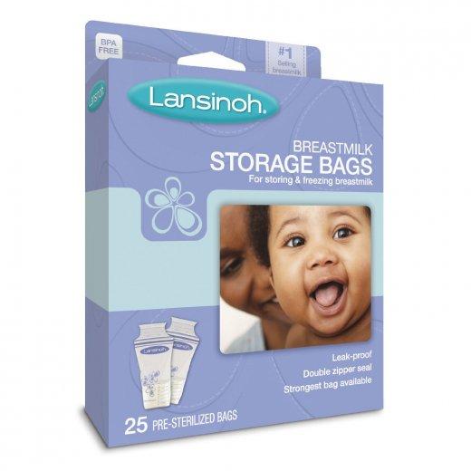 Motinos pieno maišeliai Lansinoh 25 vnt.