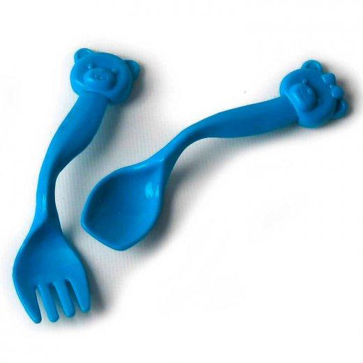 Vaikiškas mokomasis stalo įrankių rinkinys (šaukštelis ir šakutė)