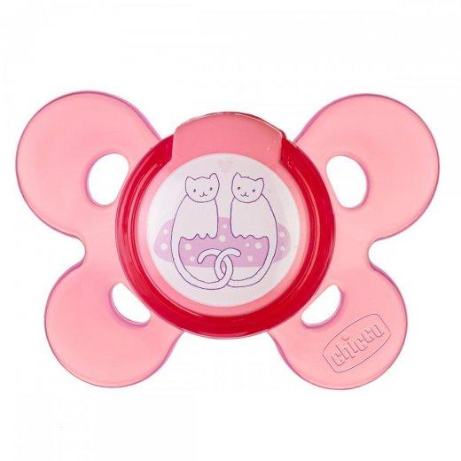 PHYSIO COMFORT silikoninis žindukas, rožinis 6-12M / 1vnt