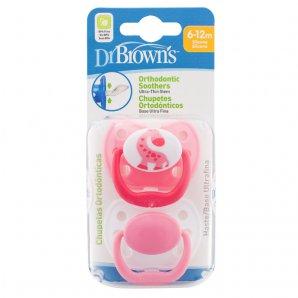 Čiulptukas 6-12 mėn, ortodontinis, rožinis, 2 vnt.