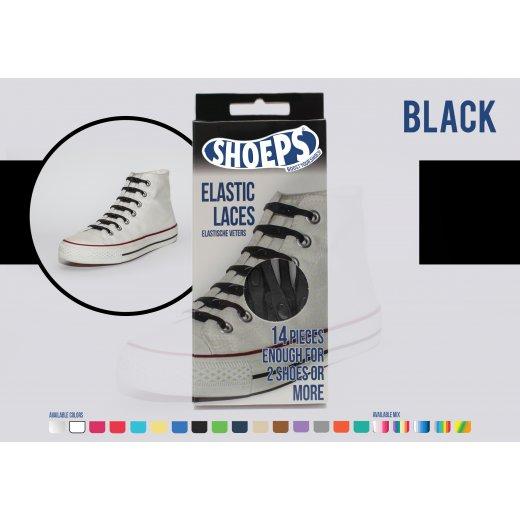 Shoeps elastingi batų raiščiai BLACK