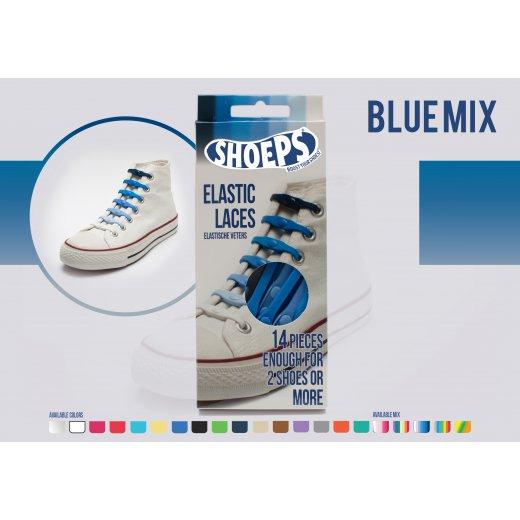 Shoeps elastingi batų raiščiai MIX BLUE