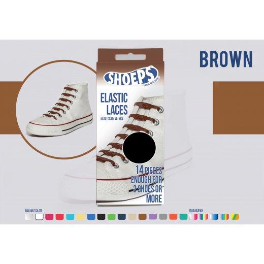 Shoeps elastingi batų raiščiai BROWN