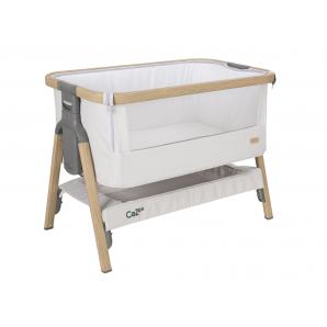 Surenkama lovytė (pristumiama prie lovos) kelioninė (su krepšiu) OAK/STERLING SILVER