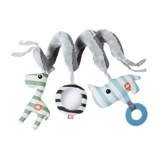 Done by Deer minkštas žaislas spiralė, Blue