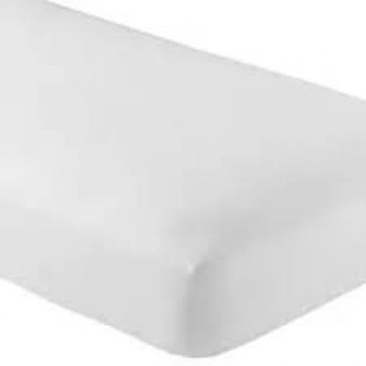 Paklodė 120x170 (satin - medvilnė), balta