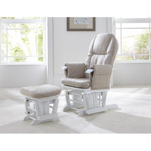 Supama kėdė (su pakoju) WHITE/BEIGE