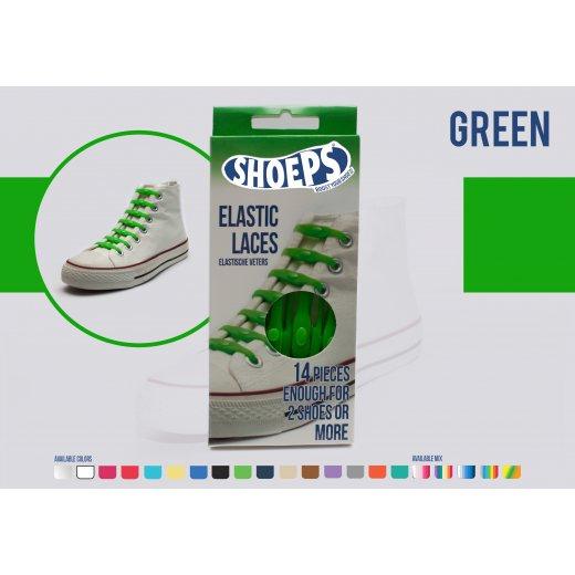 Shoeps elastingi batų raiščiai GREEN