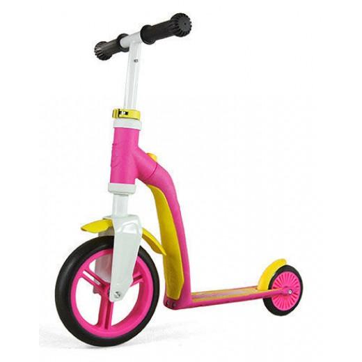 Paspirtukas / Balansinis dviratis Scoot and Ride HighwayBaby rožinė / geltona