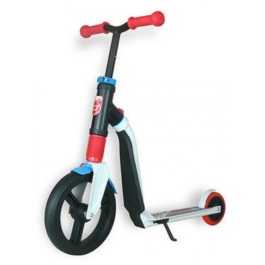 HIGHWAY - Paspirtukas / Balansinis dviratis Scoot and Ride HighwayFreak balta / raudona / mėlyna