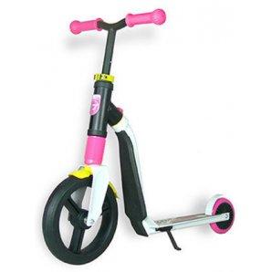 Paspirtukas / Balansinis dviratis Scoot and Ride Highwayfreak WHITE/PINK/yellow