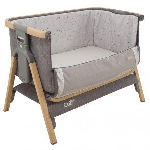 Surenkama lovytė (pristumiama prie lovos) kelioninė (su krepšiu) OAK/CHARCOAL