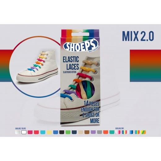 Shoeps elastingi batų raiščiai MIX 2
