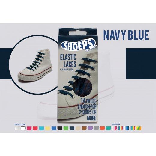 Shoeps elastingi batų raiščiai NAVY BLUE