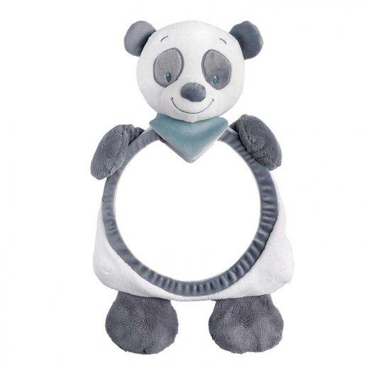 Pliušinis veidrodėlis automobiliui Panda Loulou