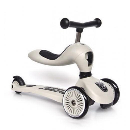 Paspirtukas / Balansinis dviratis SCOOT AND RIDE HIGHWAYKICK 1, ASH NEW