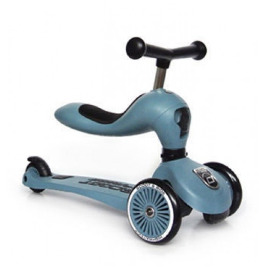 Paspirtukas / Balansinis dviratis SCOOT AND RIDE HIGHWAYKICK 1, STEEL NEW