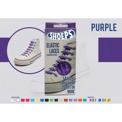 Shoeps elastingi batų raiščiai PURPLE