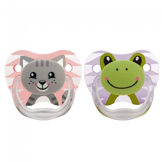 Čiulptukai PreVent 0-6 mėn., 2 vnt., mergaitėms (Cat&Frog)