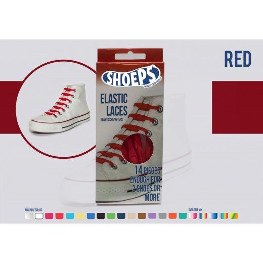 Shoeps elastingi batų raiščiai RED