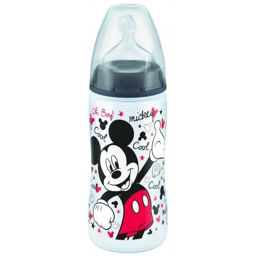 NUK Mickey FC polipropileno buteliukas 300ml su silikoniniu žinduku M Nr.2