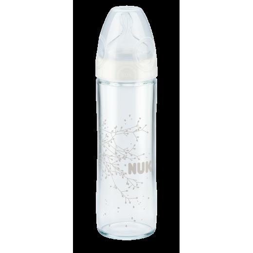 NUK New Classic buteliukas 240ml su silikoniniu žinduku M Nr.1