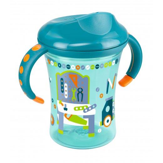NUK Trainer mokomasis puodelis su rankenėlėmis 250 ml. 8+