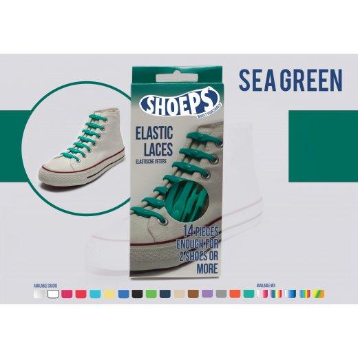 Shoeps elastingi batų raiščiai SEA GREEN