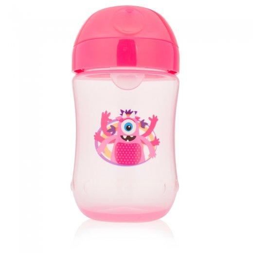 """Mokomasis puodelis minkštu snapeliu """"Toddler"""" 270 ml. (9 mėn.+) rožinis"""