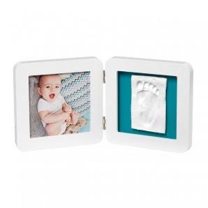 BABY ART dvigubas kvadratinis nuotraukos rėmelis su įspaudu WHITE ESSENTIALS