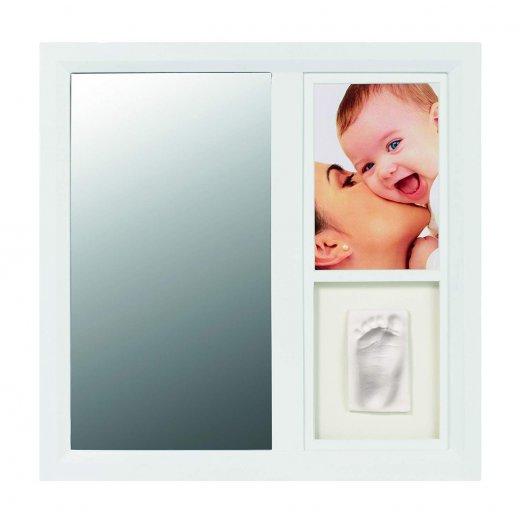 Rėmelis su veidrodėliu (baltas)