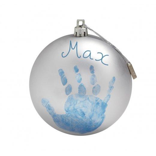 BABY ART Kalėdinis žaislas - burbulas (sidabro spalvos)