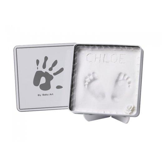 BABY ART Dėžutė su įspaudu WHITE & GREY