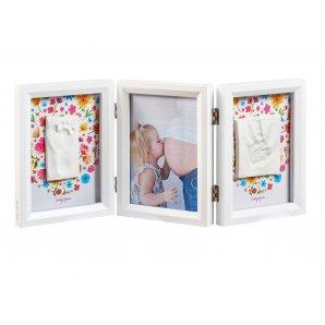 BABY ART dvigubas kvadratinis nuotraukos rėmelis su įspaudu CAROLYN STYLE
