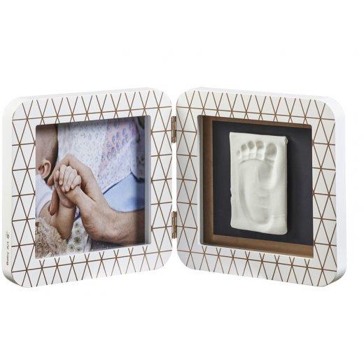 BABY ART dvigubas kvadratinis nuotraukos rėmelis su įspaudu COPPER EDITION